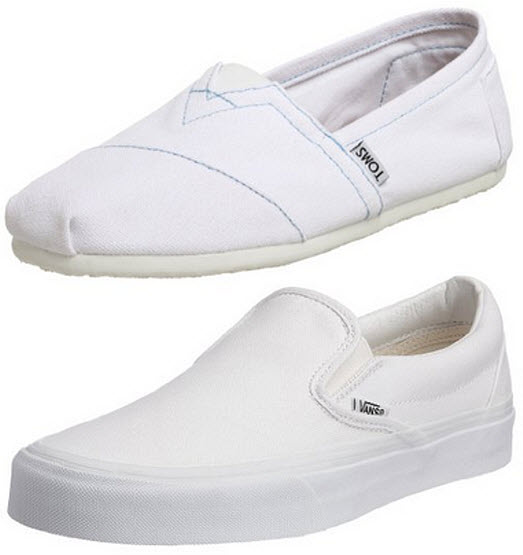 mens white canvas slip on shoes