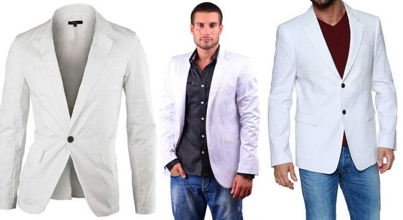 mens white sport coat
