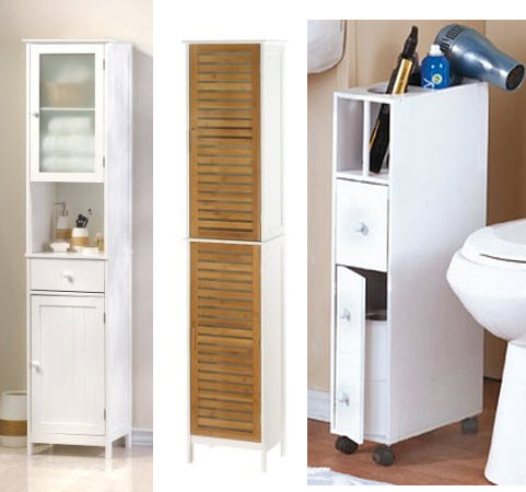 narrow bathroom cabinets