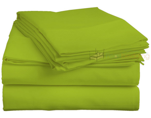 neon green bed sheets