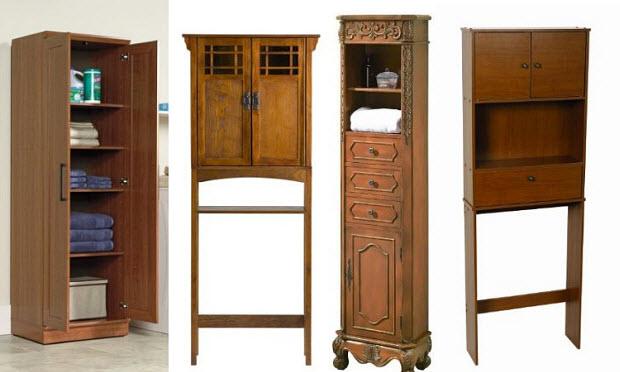oak bathroom storage cabinets
