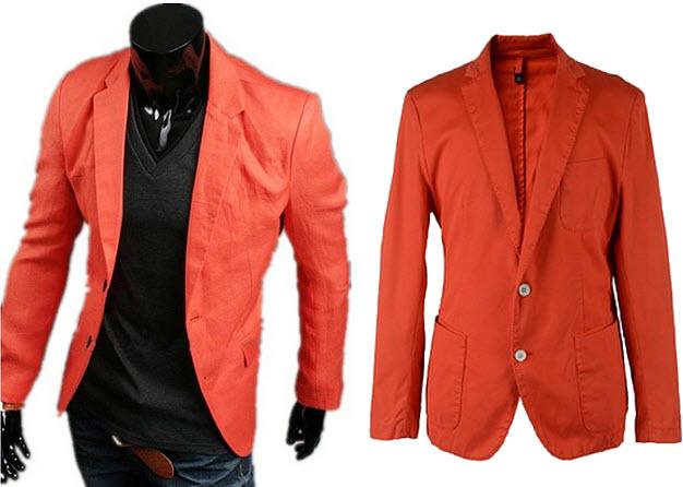 orange blazer for men