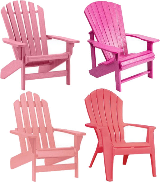 Pink Plastic Adirondack Chairs Choozone