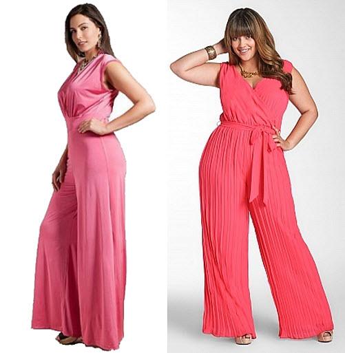 pink plus size jumpsuit