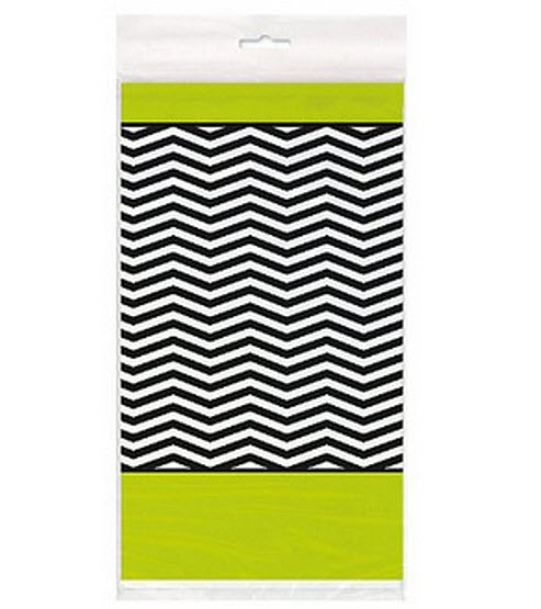 plastic chevron table cloth