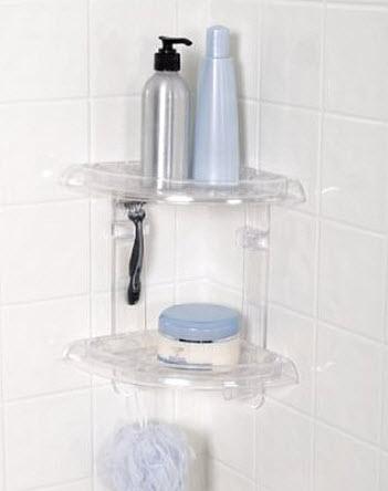 plastic corner shower shelves
