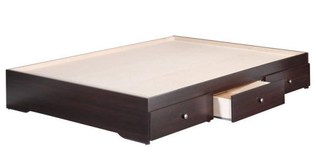 platform bed frame with storage