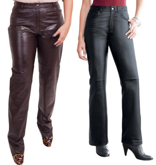 plus size leather pants for women