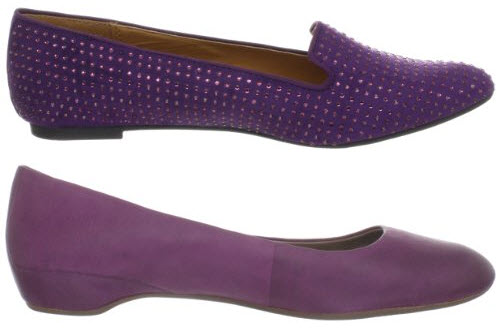 purple flat shoes for women