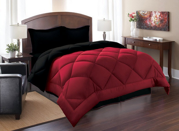 red and black king size comforter sets