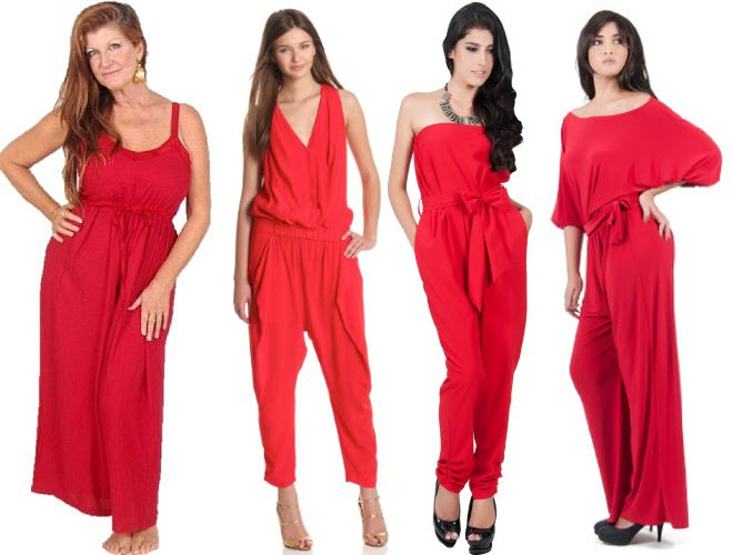 red jumpsuits for women