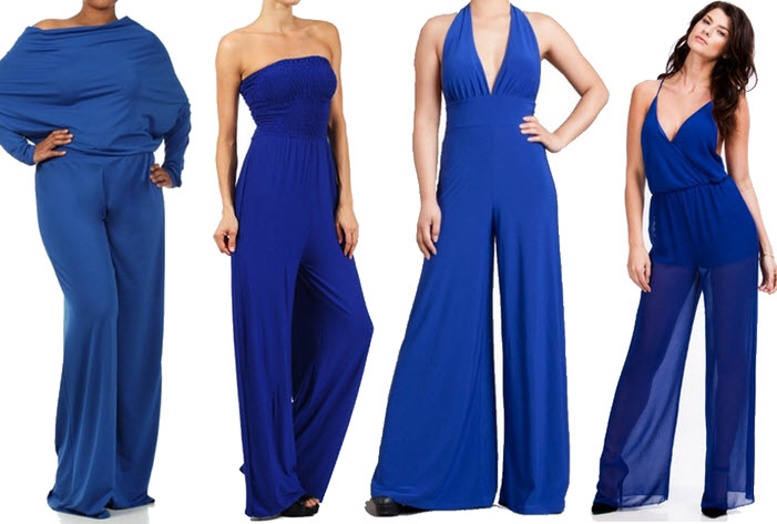 royal blue jumpsuits