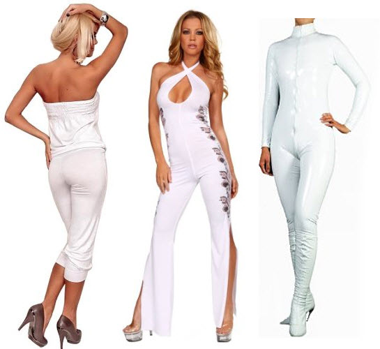 sexy white jumpsuit
