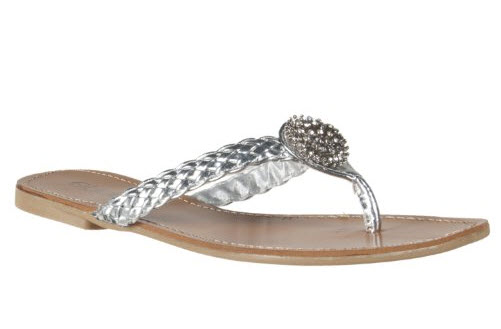 silver wedding flip flops