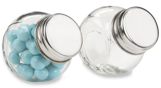small candy jars with lids