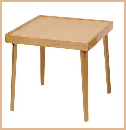 small wood folding table