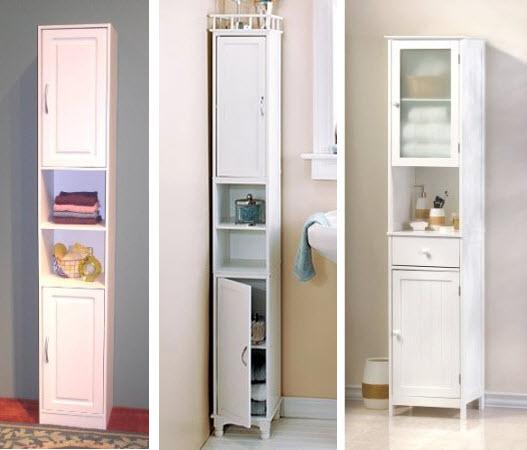 tall narrow bathroom storage cabinet