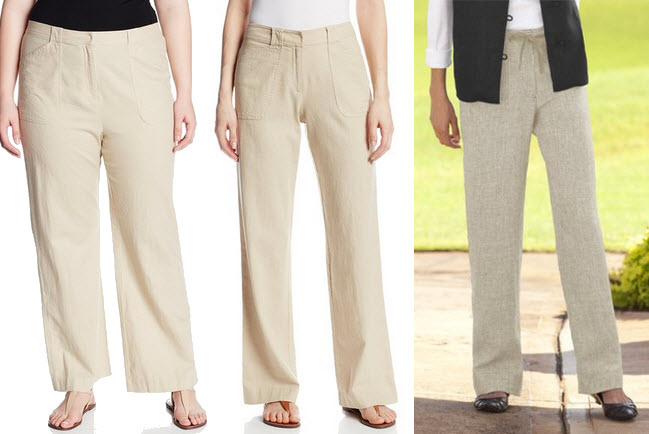 tan linen pants for women