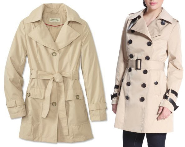 tan trench coat for women