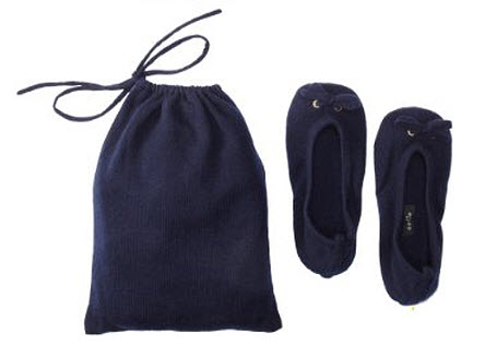 travel slippers with pouch