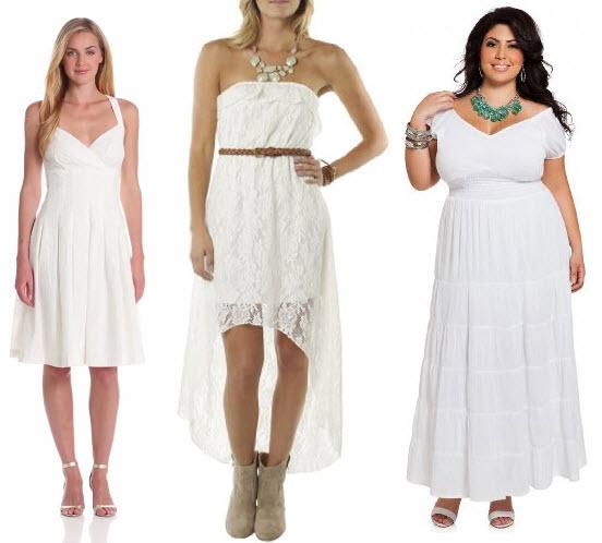 white long summer dresses
