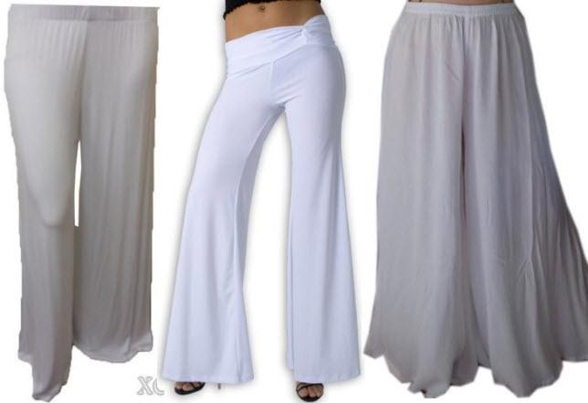 white palazzo pants