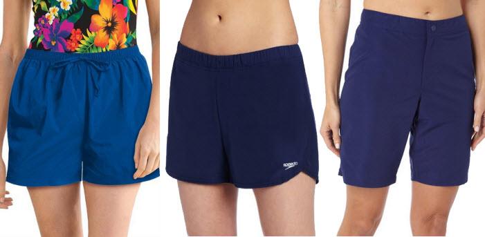 womens blue swim shorts