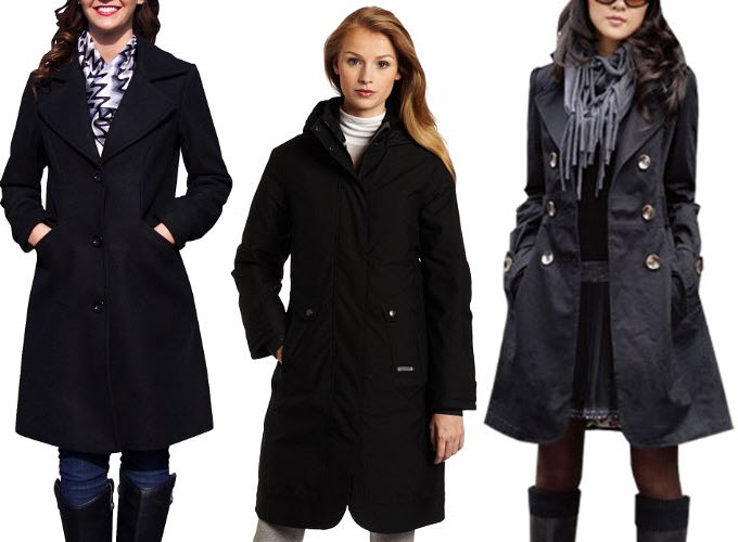 womens long black coats