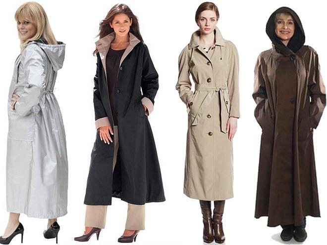womens long raincoats