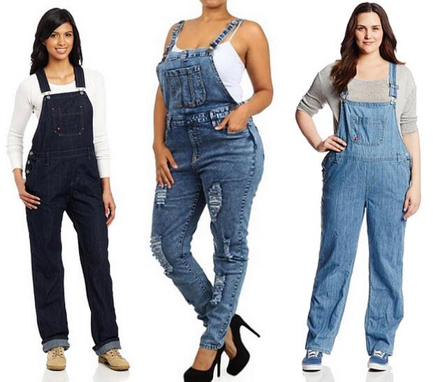 womens plus size denim overalls