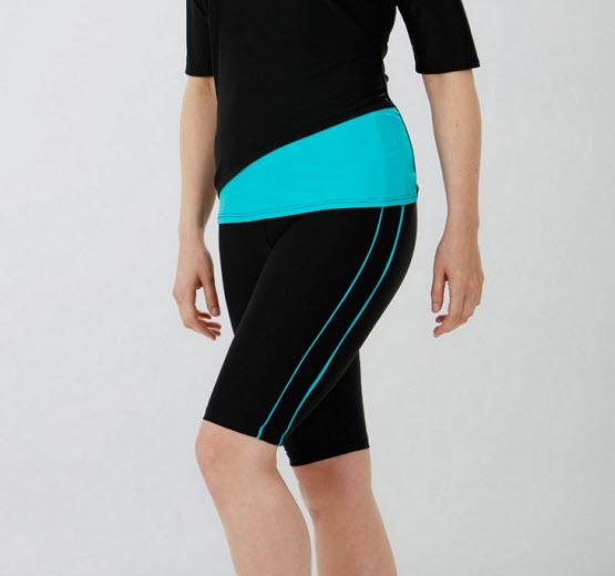 womens plus size long swim shorts