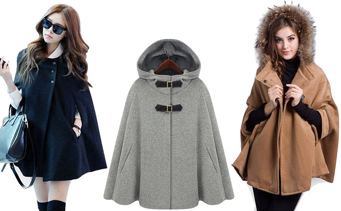womens poncho coat