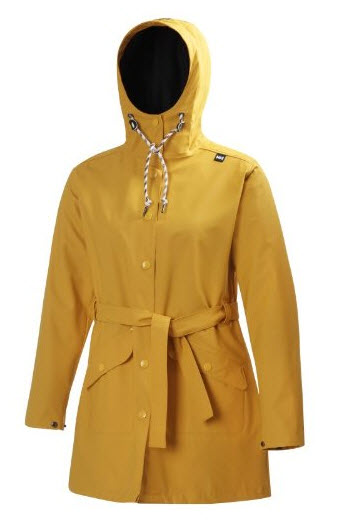 womens yellow rain slicker