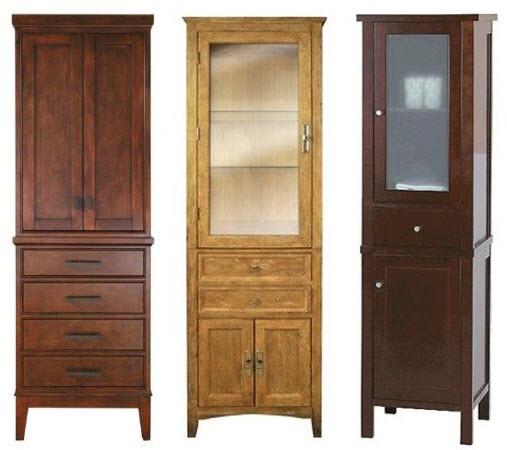wood bathroom storage cabinets
