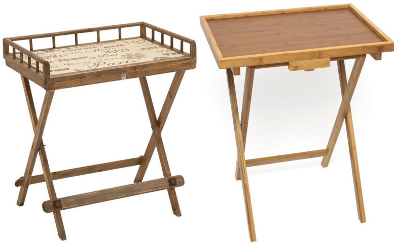 wooden folding tray tables