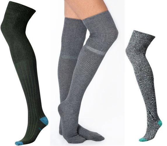 wool thigh high stockings