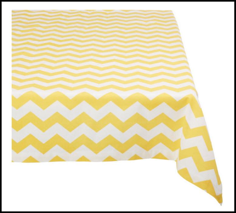 yellow chevron tablecloth