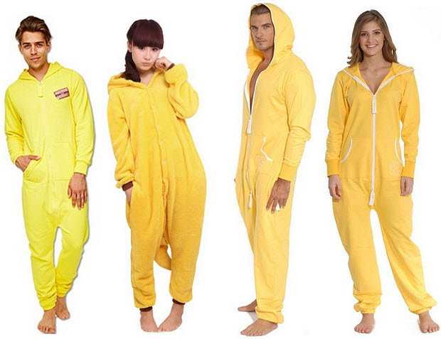 yellow onesie for adults