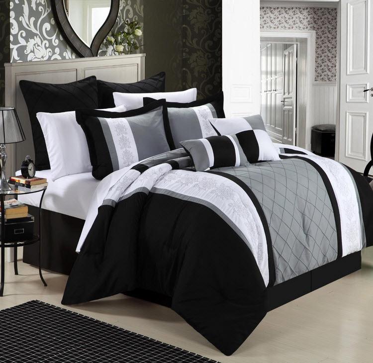 Black And Grey Bedspread Choozone